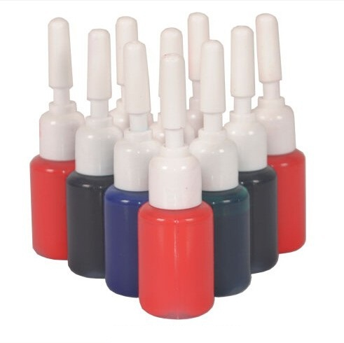 10ML/bottle different color flash stamp pad ink(China (Mainland))