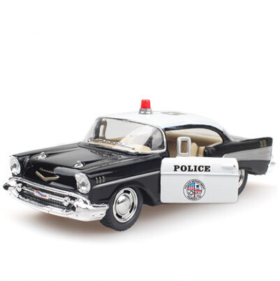 1:40 Alloy Diecast Models Car Toy, Brinquedos , Pull Back Police Car, Doors Openable(China (Mainland))