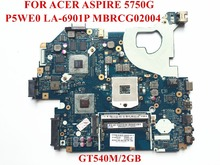 Original laptop motherboard for ACER Aspire 5750G motherboard MBRCG02004 P5WE0 LA-6901P PGA989 DDR3 GT540M/2GB Fully tested(China (Mainland))