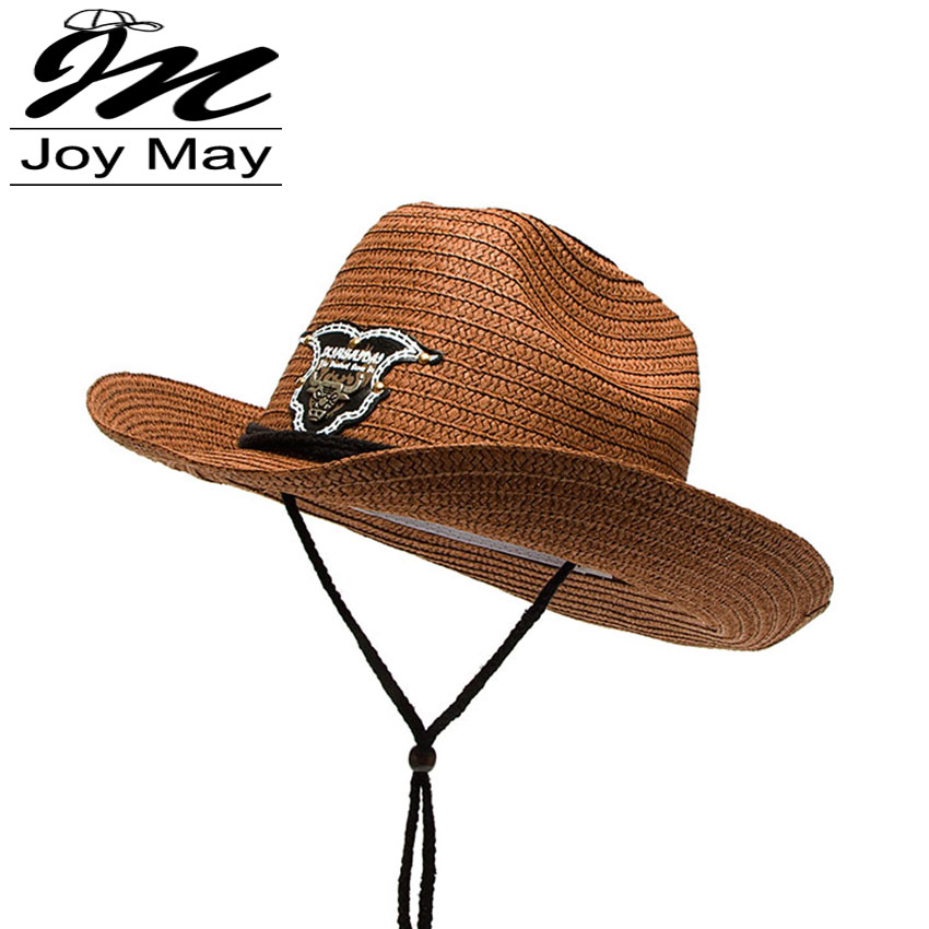 2016 New Arrival Paper Cowboy Hat Jazz Formal Hat Summer Sun Hat Beach HATS for man C006(China (Mainland))