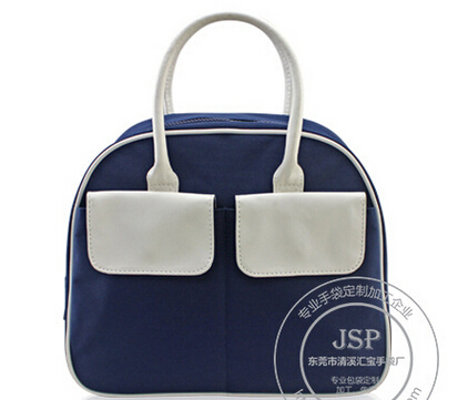 2015 Women Oxford Canvas Bags Fashion Brand Female Handbag girl schoolbag Daily sport blue white bag(China (Mainland))