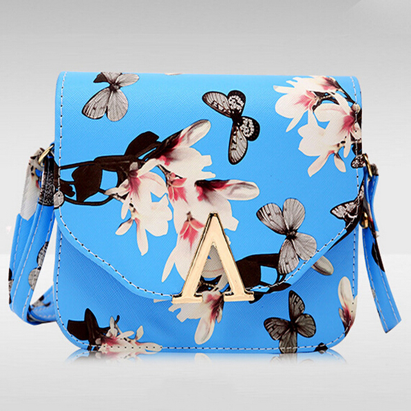 Butterfly the new PU leather double buckle inverted V port semicircle mini shoulder bag women messenger handbags 18*14*5cm(China (Mainland))