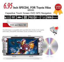 Free shipping 2 din Android 4.4 Toyota Hilux 2012 Car DVD Player Audio Video stereo GPS Navigation Bluetooth Radio,3G wifi