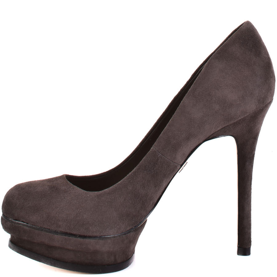Black Nubuck Leather Slip-ons Round Toe Thin Heels Thick Platform Office Shoes 2016 Women Size 12 High Heels Women Sexy Shoes<br>