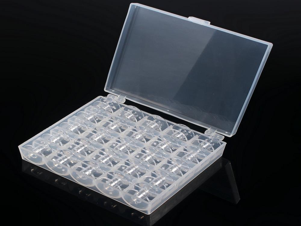 JKLONG Sewing Storage Box 25 Single Bobbin Plastic Sewing Machine Spools Thread Storage Case Box(China (Mainland))