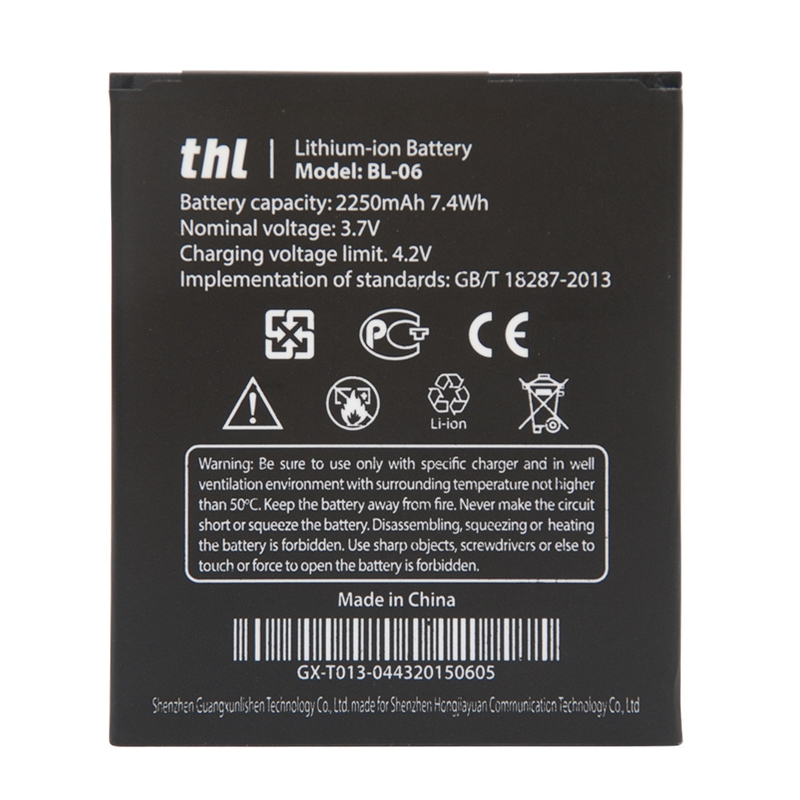 Гаджет  THL T6 T6S T6C T6PRO Battery Official Original 2250mAh BL-06 Replacement Battery For THL T6/T6S/T6 Pro Smartphone Free Shipping None Электротехническое оборудование и материалы