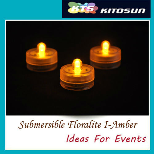 Factory Wholesale 50LEDs Amber Color Small Battery Operated Submersible led batteries lights wedding centerpieces(China (Mainland))