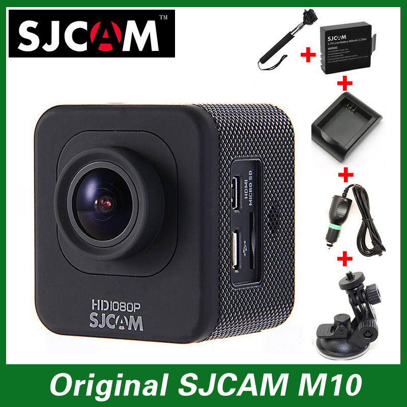 Original SJCAM M10 Sport Action Camera Full HD 1080P Waterproof+Car Charger+Holder+Extra 1pcs battery+Battery Charger+Monopod(China (Mainland))