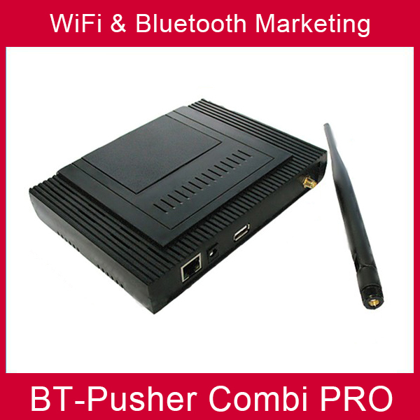 wifi bluetooth mobiles proximity marketing device BT-Pusher COMBI PRO(using in Advertising Light Boxes) WITH car charger,Battery(China (Mainland))