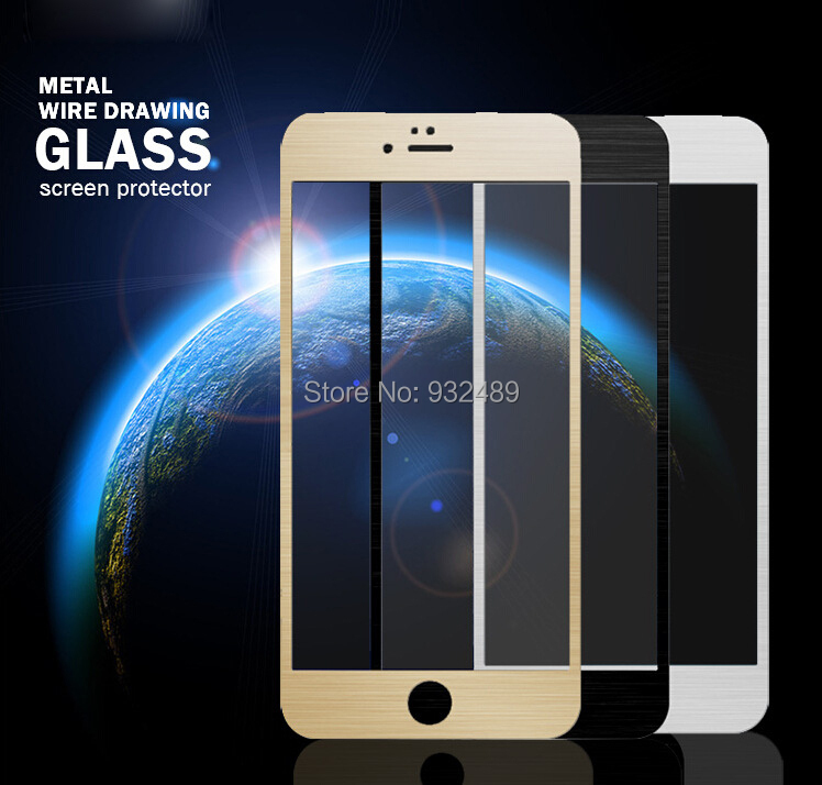 gold professional high quality Ultra-thin 9H tempered glass for iphone 6 with retail packaging China manufactuer supplier(China (Mainland))