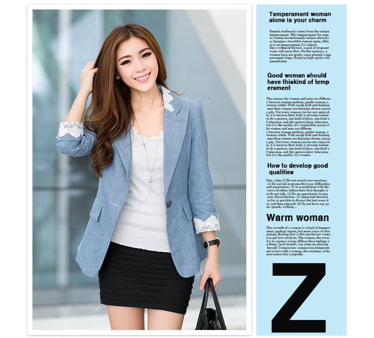 Spring 2014 Two Color Korean Custom Fit Women Blazer/Fashion Suit - yubin zhan's store