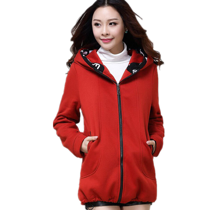 2015 Korean style plus size casual winter jacket women thick warm fleece hoodies outwear sweatshirts XL-4XL - 5A Online Store store