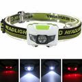 Mini 60x40x35mm 4 Mode Waterproof 3 LED Flashlight Super Bright Headlight Headlamp Torch Lanterna with Headband