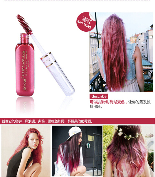 haar kleur pen nieuwe snelle tijdelijke haarverf zwart en bruin te dekken wit haar een keer draagbare haarkleur(China (Mainland))