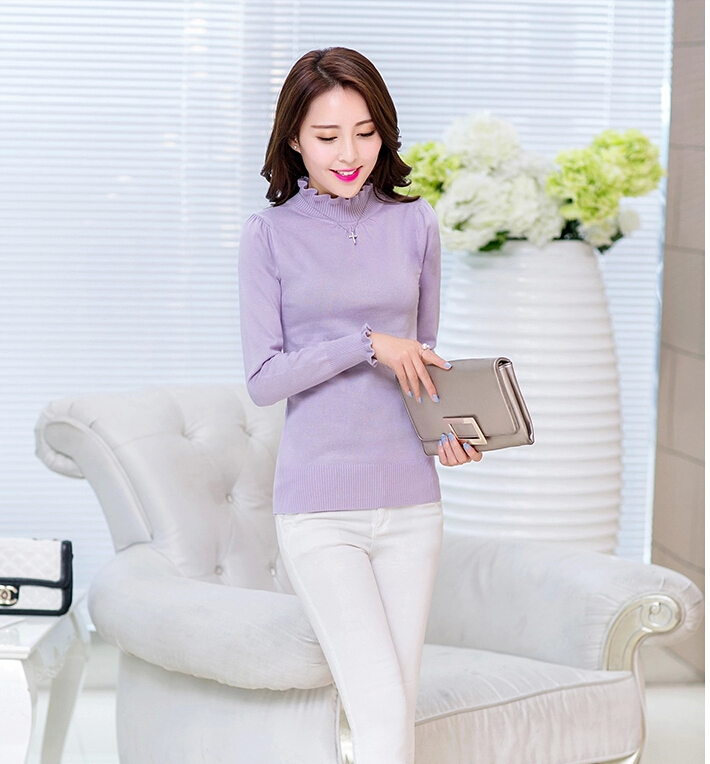 100% Sweaters 2015 long-sleeved Pullover sweater women basic shirt multicolored Top sweaters Knitted Sweater - Fashion Store1008 store