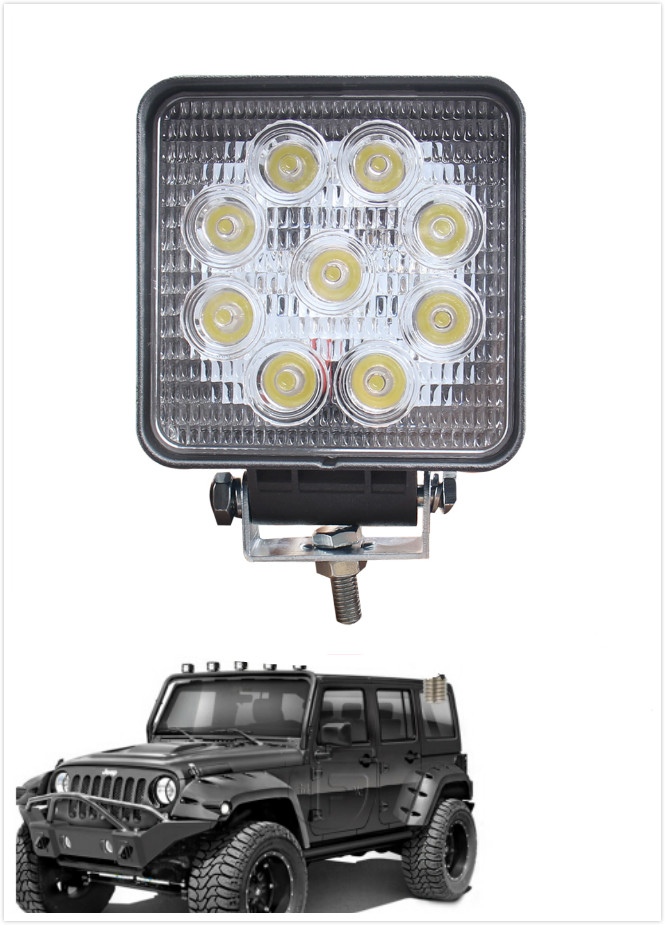 5inch 27W LED Work Light SPOT Lamp Off road Tractor Truck 4WD 6000K FOR Jeep(China (Mainland))