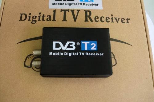 Car DVB T2 120km/h Double Antenna H.264 MPEG4 Mobile Digital TV Box External USB DVB-T2 Car TV Receiver Free shipping