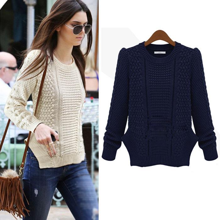 New Fashion Plus Size Autumn Winter Women Sweater Plus Size Women Slim Pullover Sweater Casual Top Knitted Sweaters free Shipp(China (Mainland))