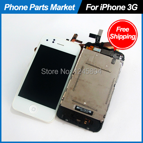 100% Gurantee LCD Touch Screen Digitizer Glass Assembly Replacement For iPhone 3 3G,DHL Free Shipping(China (Mainland))