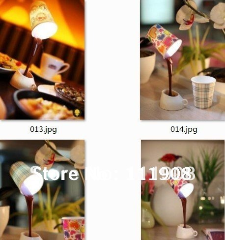 EMS,DIY lampshade USB/BATTERY power source LED coffee night light,8 LED table desk lamp for home decoration.(China (Mainland))