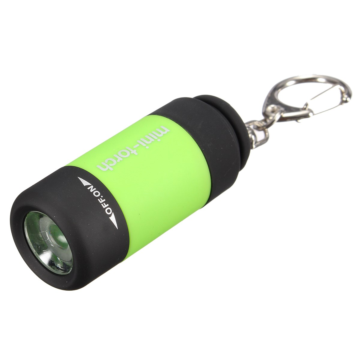 Elfeland Waterproof Mini Rechargeable 25 lumens ON/OFF Mode USB Charging LED Light Flashlight Portable ABS Lamp Torch+Keychain(China (Mainland))