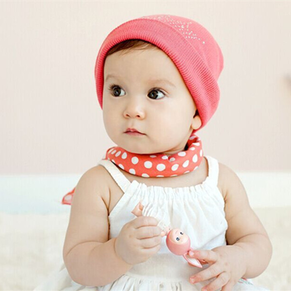 Baby boys girls summer style silk scarf square Round dots neck scarves Toddlers summer scarf 3 colors 6months-3 years 1pc H758(China (Mainland))