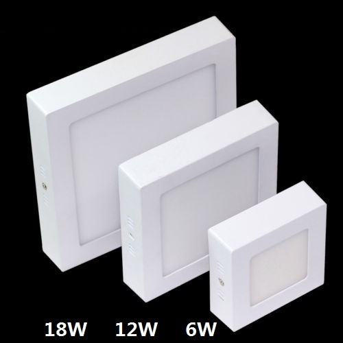 DHL Free 10PCS Surface Mounted LED Panel Light 6w 12w 18w Dimmable Square Ceiling Recessed Lights LED Downlight SMD2835(China (Mainland))