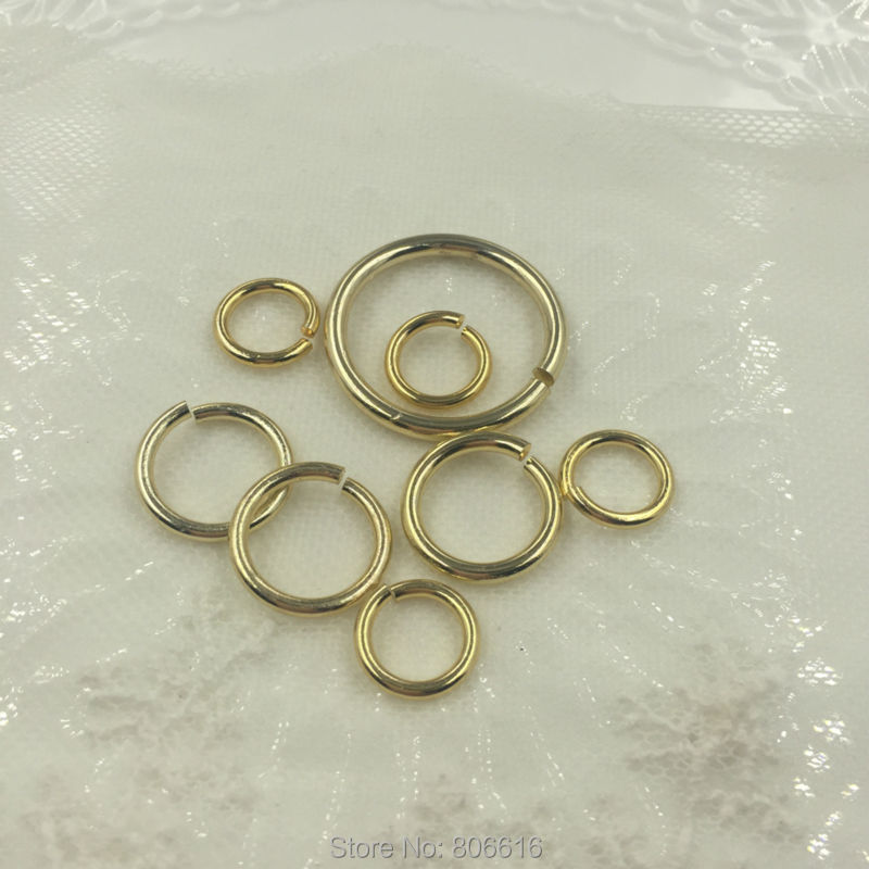 13mm 18mm 30mm Gold Color Plated Aluminum Jump Rings & Split Rings Jewelry Findings Accessories(China (Mainland))