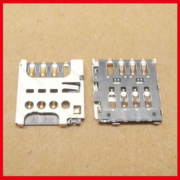 20pcs/lot Original New SIM Card Holder Tray Slot Connector for coolpad 8720L 9150 8908 8705 8297W S6