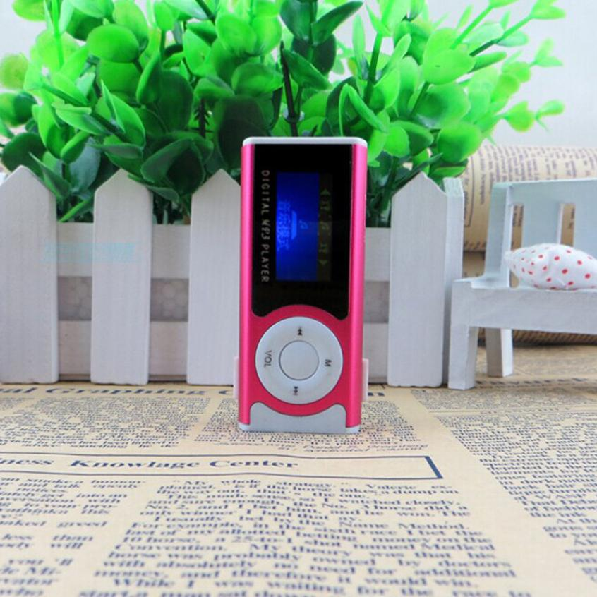Beautiful Gift 100 Brand New 2016 Shiny Mini USB Clip LCD Screen MP3 Media Player Support