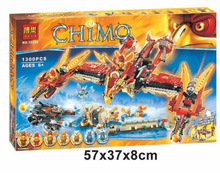 Bela Chimaed 10298 Flying Phoenix Fire Temple 1300pcs Minifigures toys building blocks movie Compatible with Lego 70146(China (Mainland))
