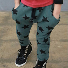 2015 New Arrival Fashion Toddler Boys Cotton Long Pants Stars Pattern Trousers Casual Bottoms Hot Wholesale(China (Mainland))