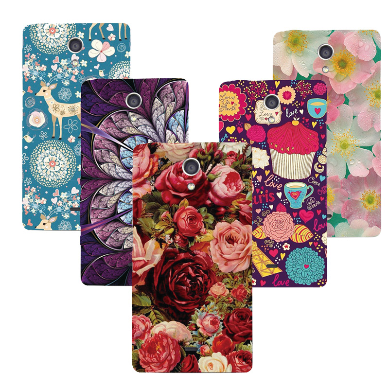 Emboss UV Print Hard Phone Case For Sony Xperia T LT30 LT30i LT30P Back Cover Cartoon PC Mobile Phone Shell Drop Shipping(China (Mainland))