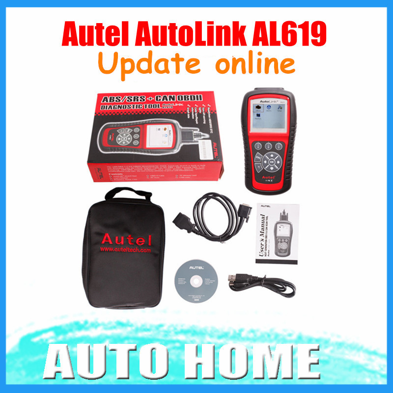 [AUTEL Dealer] 2015 100% Original Autel AutoLink AL619 OBDII CAN ABS And SRS Scan Tool Update Online Free shipping(China (Mainland))