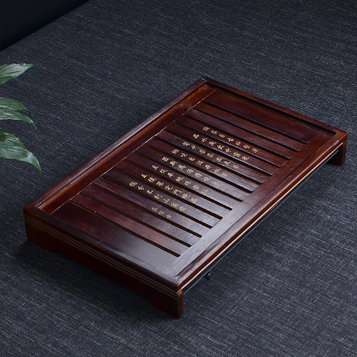 Free Shipping Solid Wood Tea Tray Drainage Water Storage