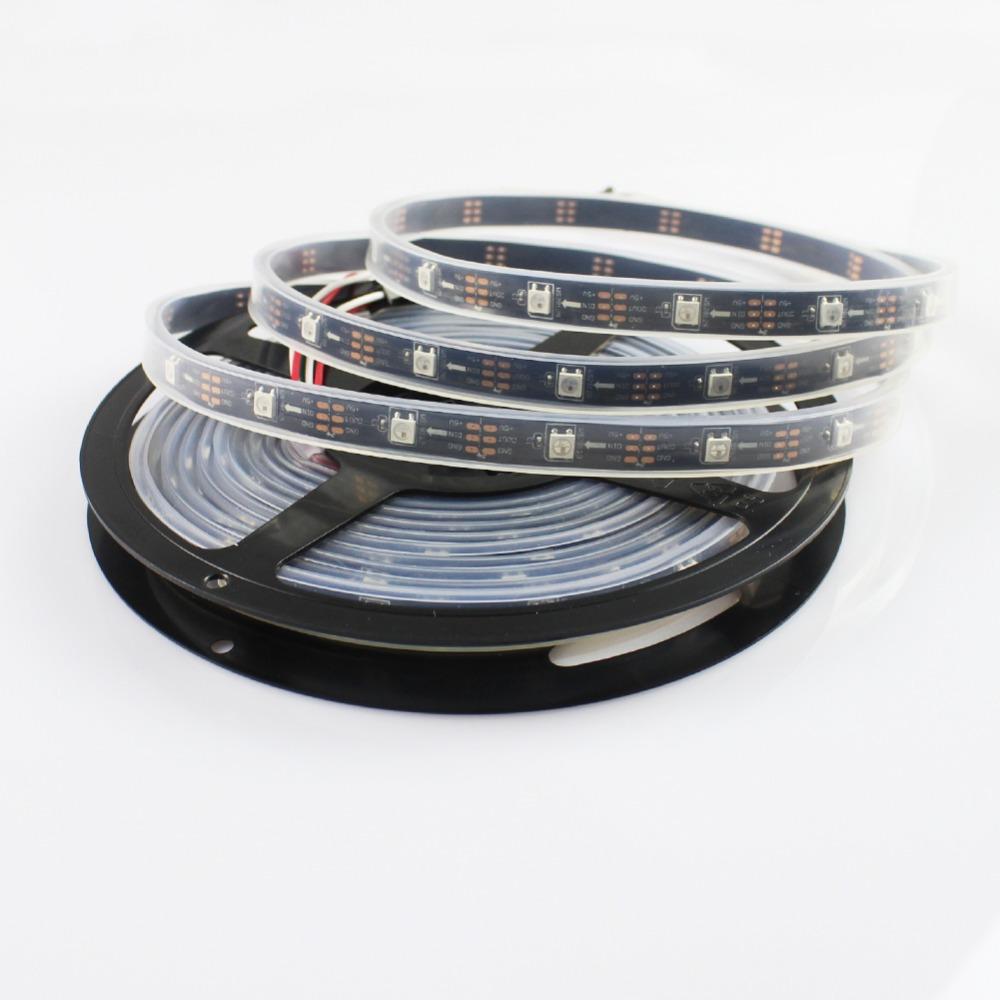GoesWell Addressable LED Strip WS2812 SMD 5050 30 LED/m 30 IC/m Pixel Tape DC5V IP22 Digital LED Rope Light RGB 5M/lot(China (Mainland))