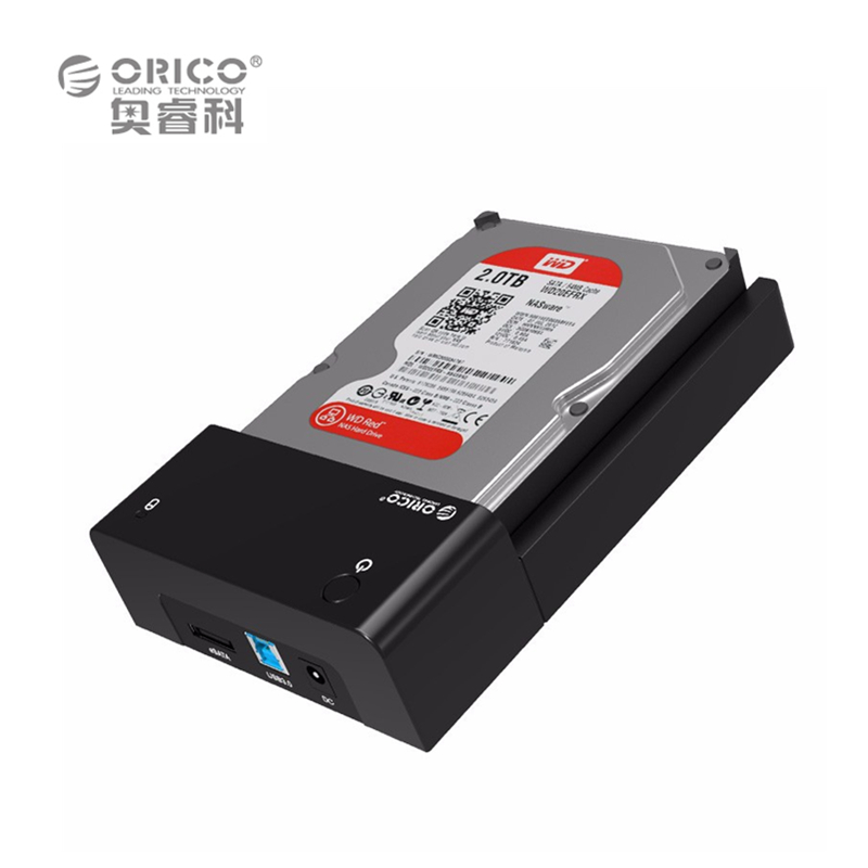"ORICO 6518US3 SATA3.0 to USB 3.0 2.5/3.5"" HDD Docking Station External Storage Enclosure Caddy/box (No Hard Disk) EU Plug(China (Mainland))"