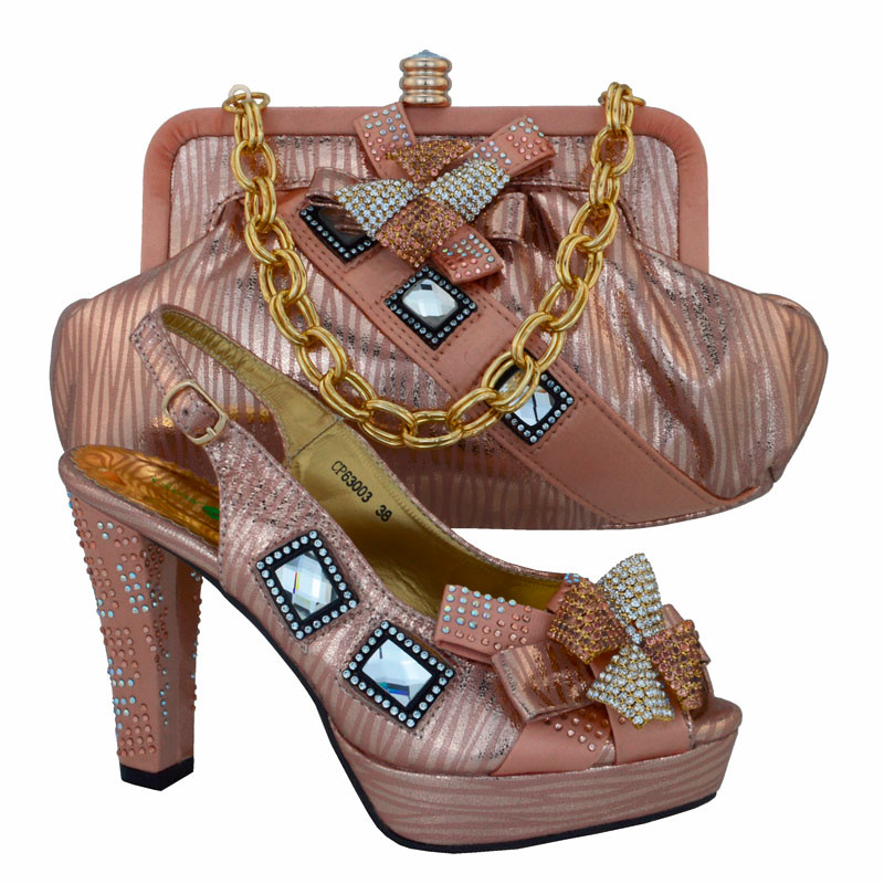 Italian Design Shoes And Bag Set Italian For Party,High Quality Shoe And Bags Set for Wedding CP63003 (Szie:38-42)