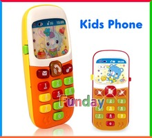 Free Ship Kid Mobile Phone Electronic Music Toy Cellphone Telephone Baby Infant Phone Best Gift for kid Educational Learning Toy(China (Mainland))