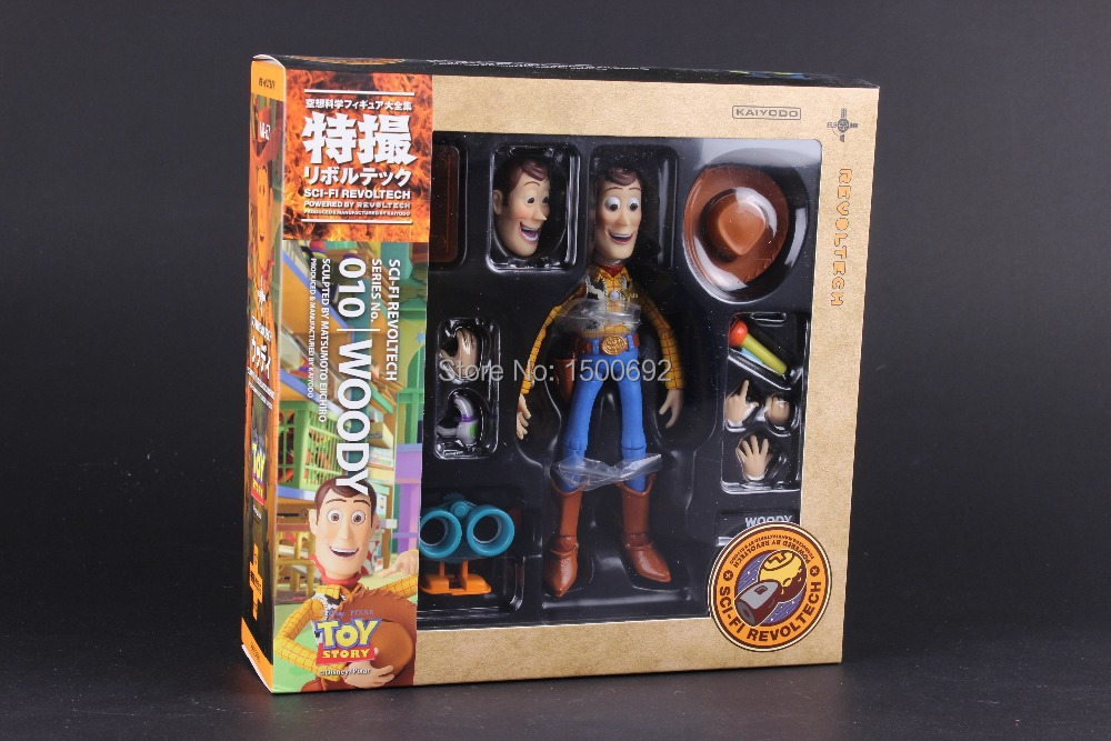 14cm Toy Story Woody Series NO. 010 Sci-Fi Revoltech Special PVC Action Figure Collectible Toy (no fake)(China (Mainland))