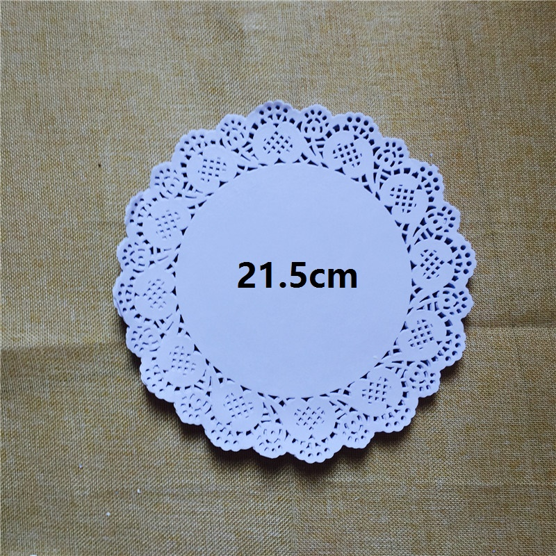 """100pcs 8.5""""=215mm White Round Lace Paper Doilies Wedding Christmas Table Decoration Craft Cake Placemat(China (Mainland))"""