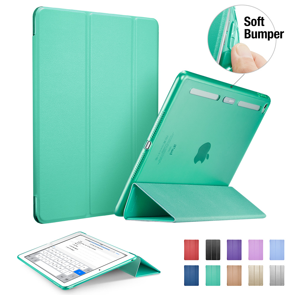ESR PU Front+Translucent PC Back Cover Hybrid [Soft TPU Corner][Ultra Slim][Auto Wake up Sleep] Smart Cover Case for iPad mini 4(China (Mainland))