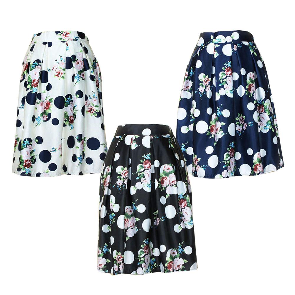 2015 printed s skirt flowers pattern high waist