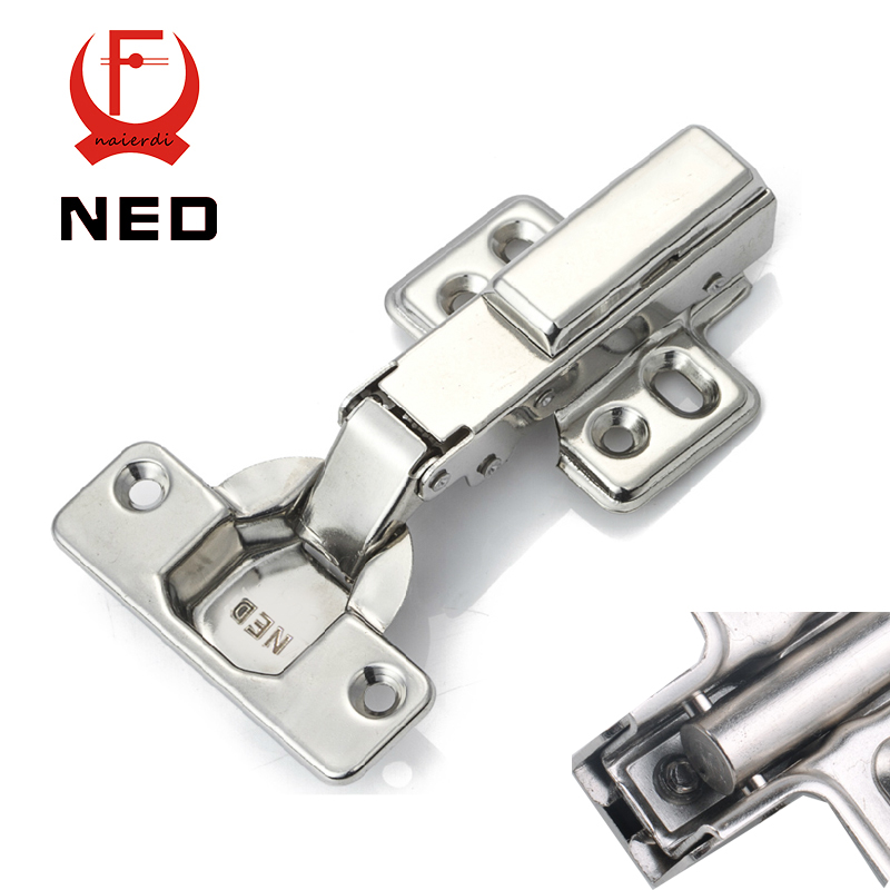 4PCS NED Furniture Hardware Three Sizes Hinge Rustless Iron Hydraulic Damper Buffer Soft Close Cabinet Cupboard Door Hinges(China (Mainland))