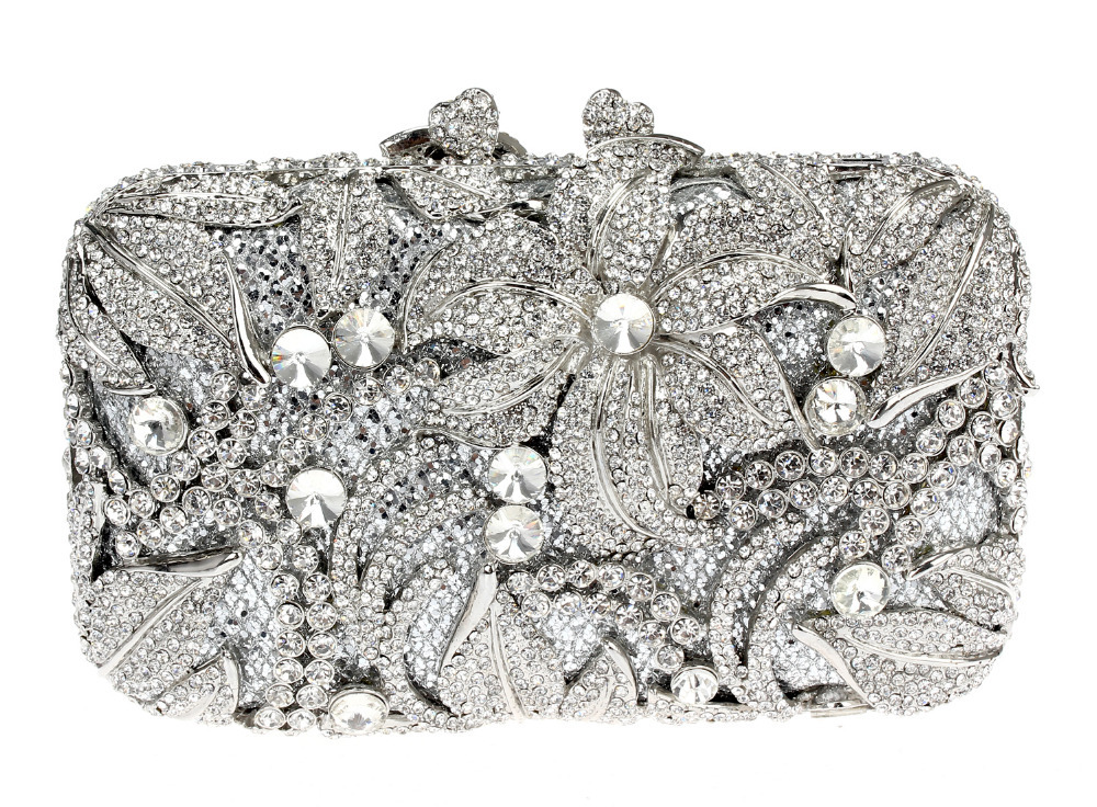 2016 New Hot Selling New Design Deluxe Oval Shape Ladies Evening Party Clutches Full Crystals Metal Women Purse Gold Plated(China (Mainland))