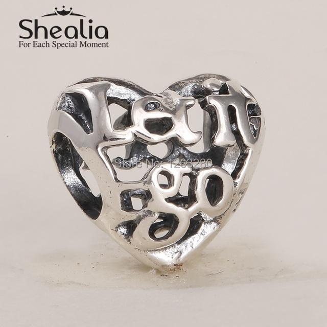 2015 новый стерлингового серебра 925 let it go ажурные в форме сердца подвески европейский ювелирных украшений для женщин известный браслеты diy изготовления ювелирных изделий