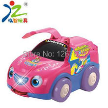 Free Shipping Huile Toys 610 B/O Car music/light/electric universal child puzzle toy baby toy(China (Mainland))