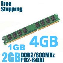 Commercio all'ingrosso brand new sealed ddr2 800/pc2 6400 1 gb 2 gb 4 gb desktop di memoria ram compatibile con ddr 2 667 mhz/533 mhz in magazzino  (China (Mainland))