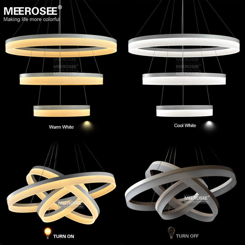 Wholesale led round chandelier modern acrylic lamp light for dinning md5060w new arrival chandeliers led acrylic ring hanging lamp modern room light fixture led lustre mozeypictures Gallery