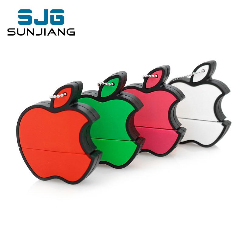 New usb flash Fruit Series Apples pen drive pendrive usb 64gb flash drive 4g8g16g32g USB2.0 memoria usb free shipping flash card(China (Mainland))
